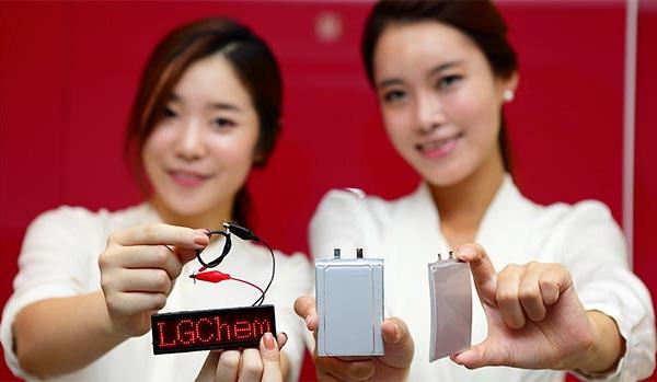 LG Chem - zaakrzywiony akumulator