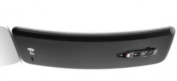 LG G Flex - oficjalnie, bok i tył