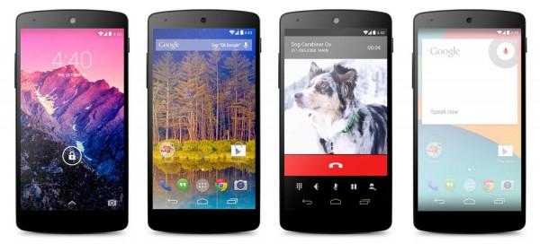 LG Google Nexus 5 - kilka obok siebie