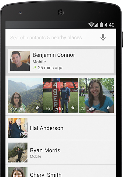LG Google Nexus 5 - kontakty