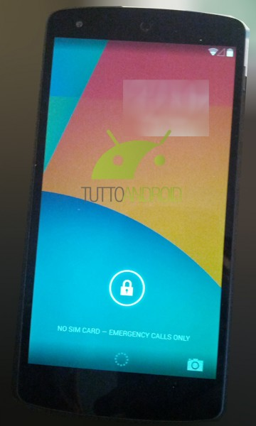 LG Nexus 5 i Android 4.4 KitKat - ekran blokowania