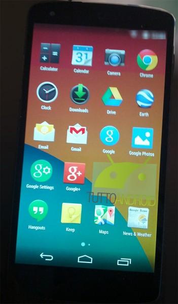 LG Nexus 5 i Android 4.4 KitKat - listing aplikacji