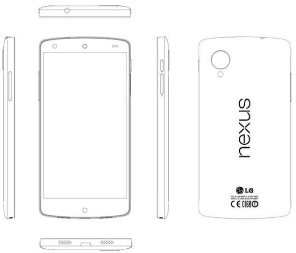 LG Nexus 5 - rysunek serwisowy