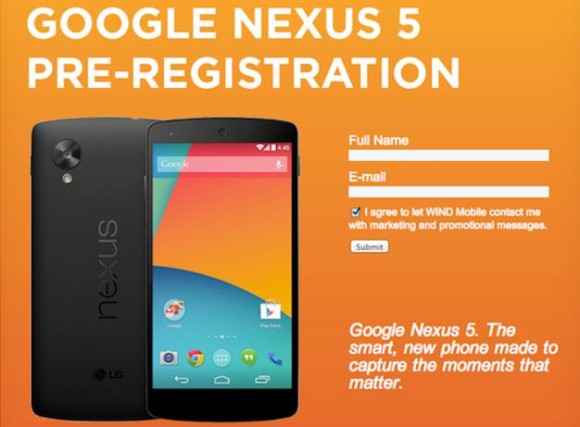 LG Nexus 5 w Wind Mobile