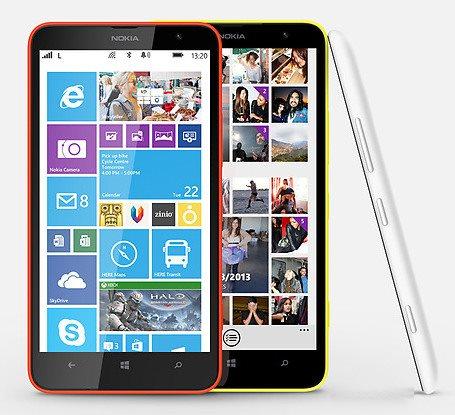 Nokia Lumia 1320 - front i bok