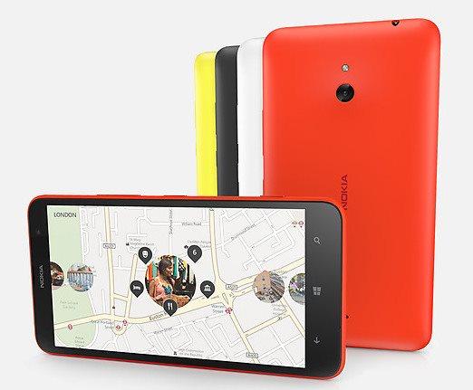 Nokia Lumia 1320 - front i tyl