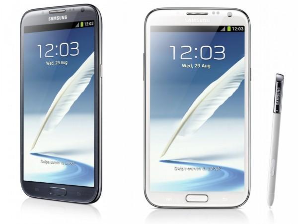 Samsung Galaxy Note II - biały i granatowy