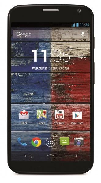 Motorola Moto X - czarna, front