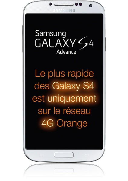 Samsung Galaxy S4 Advance - front, francuski Orange
