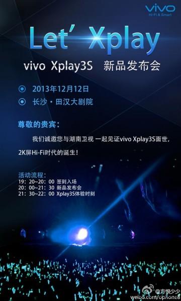 Vivo Xplay 3S - zaproszenie