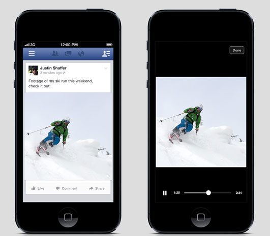 Facebook - automatyczne otwieranie filmów