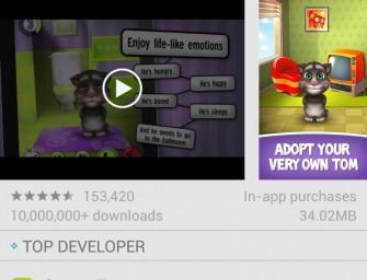 Sklep Google Play w wersji 4.5.10 przynosi sporo zmian