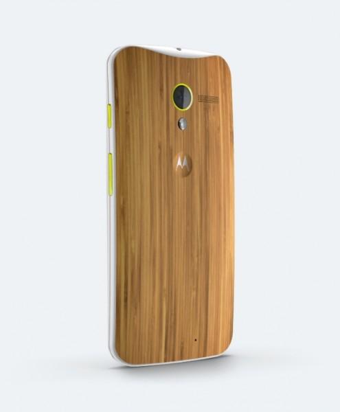 Motorola Moto X - bamboo, całe plecki