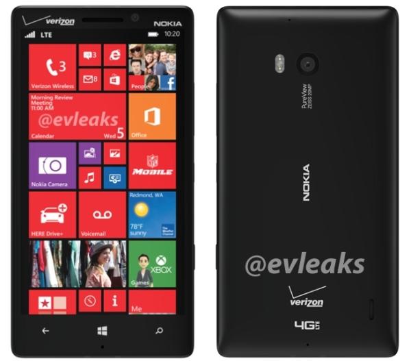 Nokia Lumia 929,watermark - front i tył