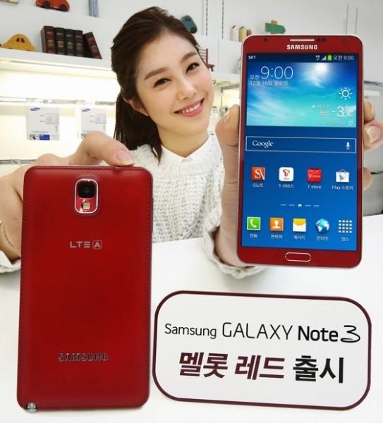 Samsung Galaxy Note 3 - Merlot Red, czerwony