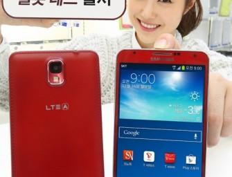 Czerwony Samsung Galaxy Note 3 zadebiutował w Korei