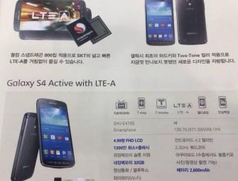 Samsung Galaxy S4 Active w wersji ze Snapdragonem 800