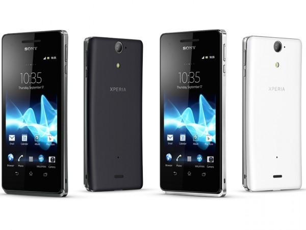 Sony Xperia V - czarna i biała