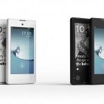 YotaPhone - przod i tyl, czarny i bialy