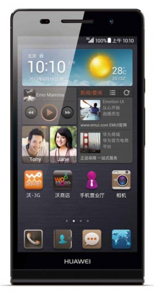 Huawei Ascend P6 S - czarny, front