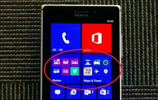 Nokia Lumia Black - folder aplikacji