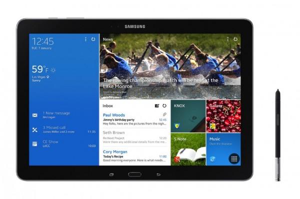 Samsung Galaxy NotePRO 12.2 - front i rysik