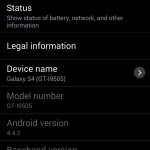 Samsung Galaxy S4 - KitKat, 7