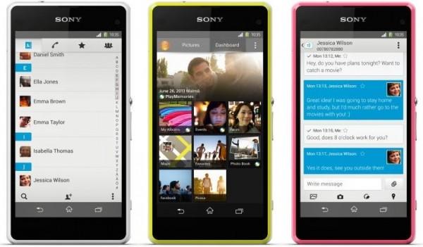 Sony Xperia Z1 Compact - kilka obok siebie