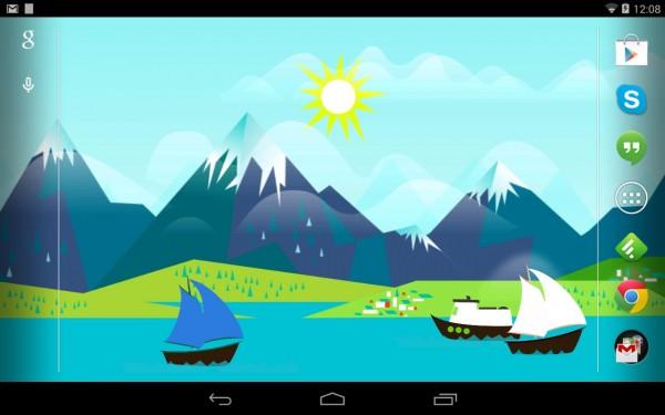 Mountains Now - żywa tapeta na Android