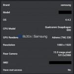 Samsung Galaxy S5 - AnTuTu, benchmark prototypu 3