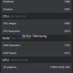 Samsung Galaxy S5 - AnTuTu, benchmark prototypu 6