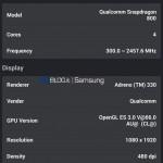 Samsung Galaxy S5 - AnTuTu, benchmark prototypu 7