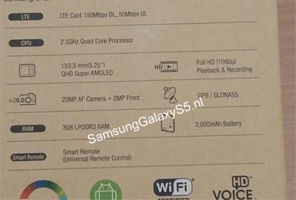 Samsung Galaxy S5 - kartonik