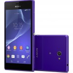 Sony Xperia M2 - front i tył, fiolet