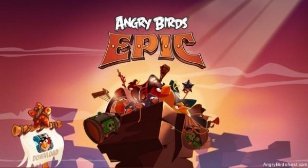 Angry Birds Epic - ekran tytułowy