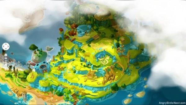 Angry Birds Epic - mapa