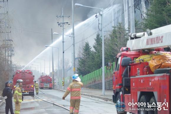 Samsung, pożar podwykonawcy w Anseong