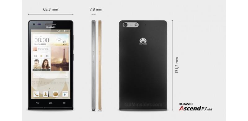 Huawei Ascend P7 mini - front i tył