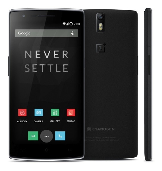 OnePlus One - czarny, front i tył