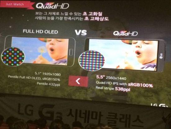 LG G3 - ekran, prezentacja