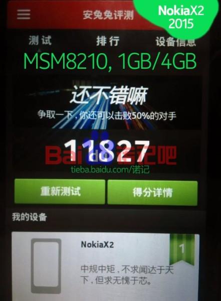 Nokia X2 - AnTuTu