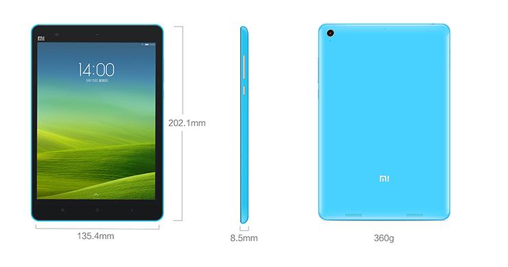 Xiaomi Mi Pad 7.9 - wymiary