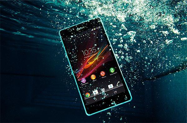 Sony Xperia ZR - woda