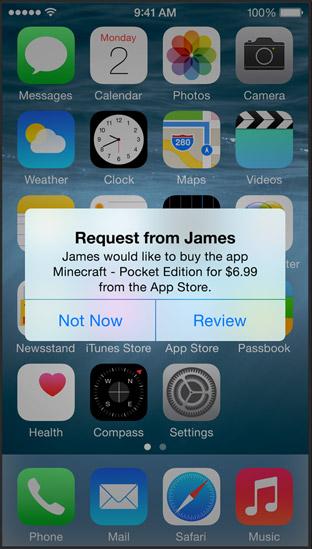 Apple iOS 8 - prośba o kupno appki