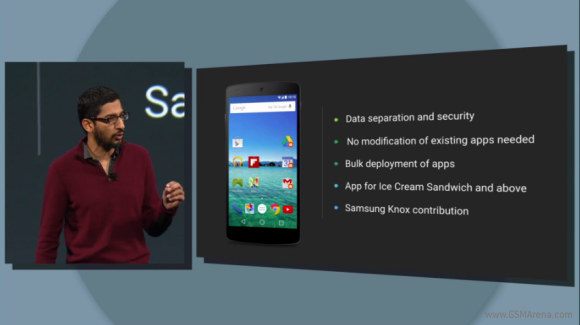 Google Android L - separacja danych