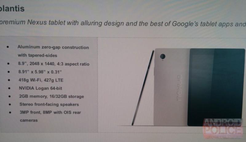 HTC Nexus 9 - specyfikacja