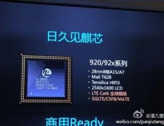 Huawei Krin 920 – konkurent dla Snapdragona 805?