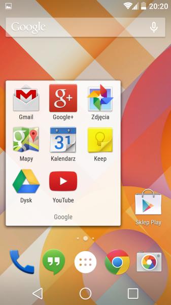 Nexus 5 - Android L, zrzut ekranu 6