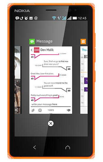 Nokia X2 - multitasking