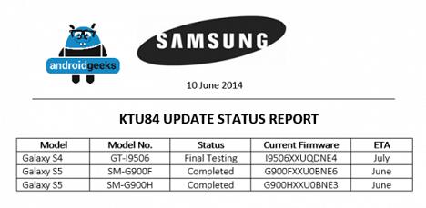 Samsung - aktualizacja 4.4.3 KitKat